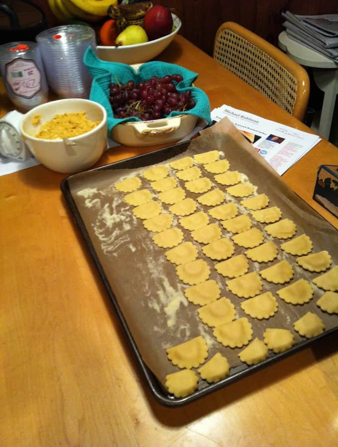 Home made ravioli for Thanksgiving 2012.