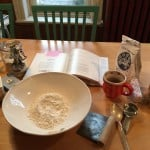 Getting ready to make the pie crust.