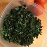 Chopped kale for the topping.