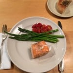Roasted Salmon, Asparagus, and Grape Tomatoes