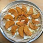 Butternut Squash Pizza, ready for baking.