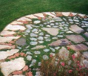 Gardening Notes from Brooklyn: Stone landscaping design by Ann Brooke for Monterey Masonry.