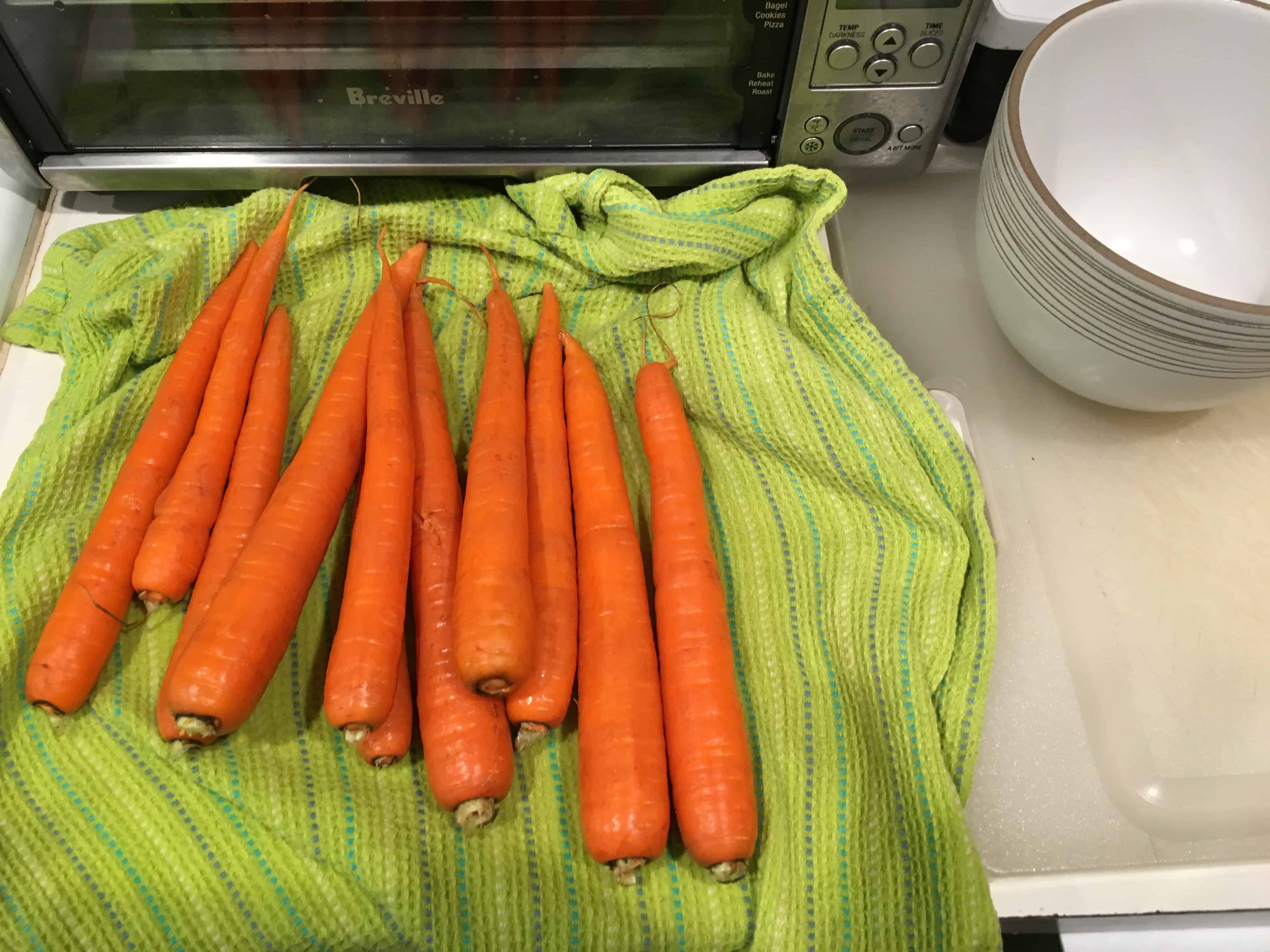 Carrots for chopping.