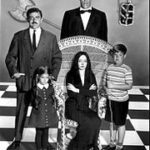 Gomez, Lurch, Pugsley, Morticia and Wednesday, of the Adams Family.