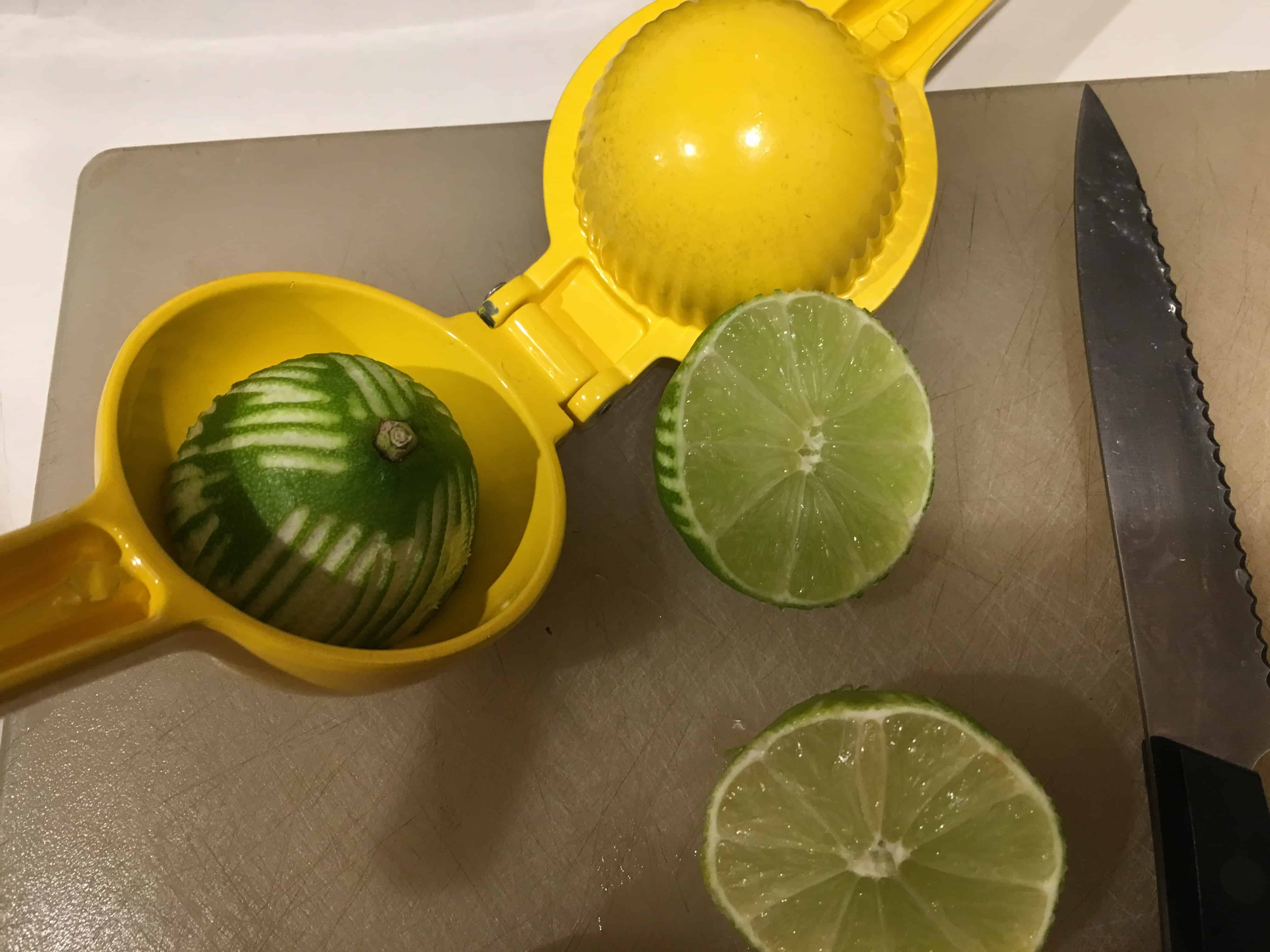 Zested limes.