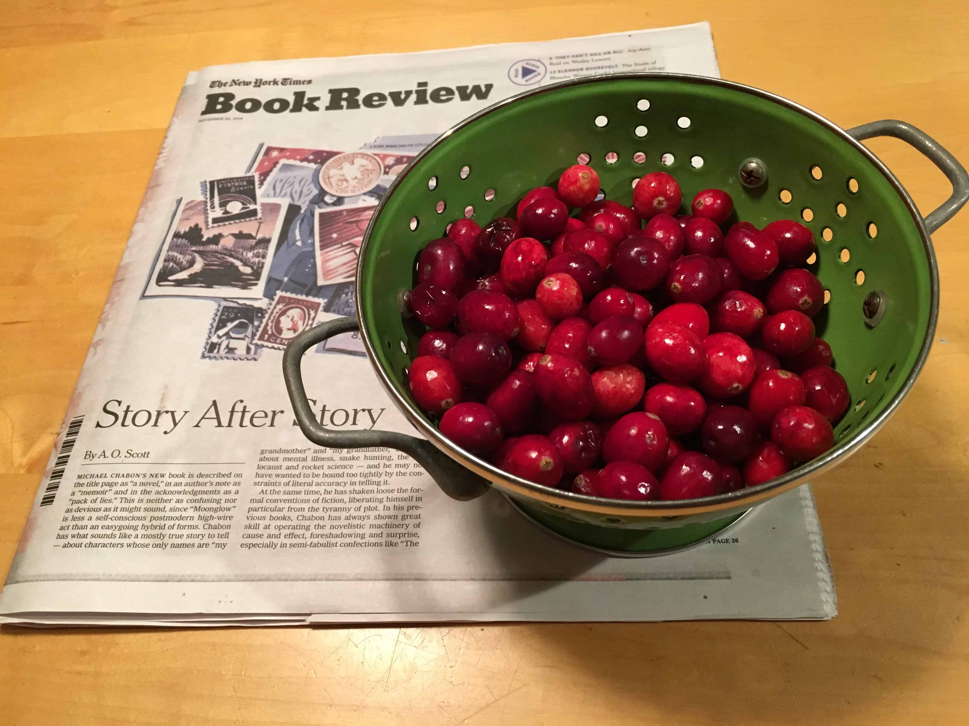 Cranberries for the Quince and Cranberry Compote.