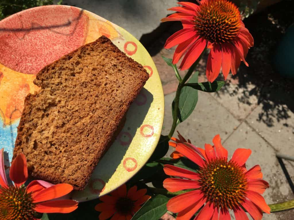 This slice of Brown Butter Cardamom Banana Bread would make a perfect breakfast or snack with a bit of almond butter spread across the top.