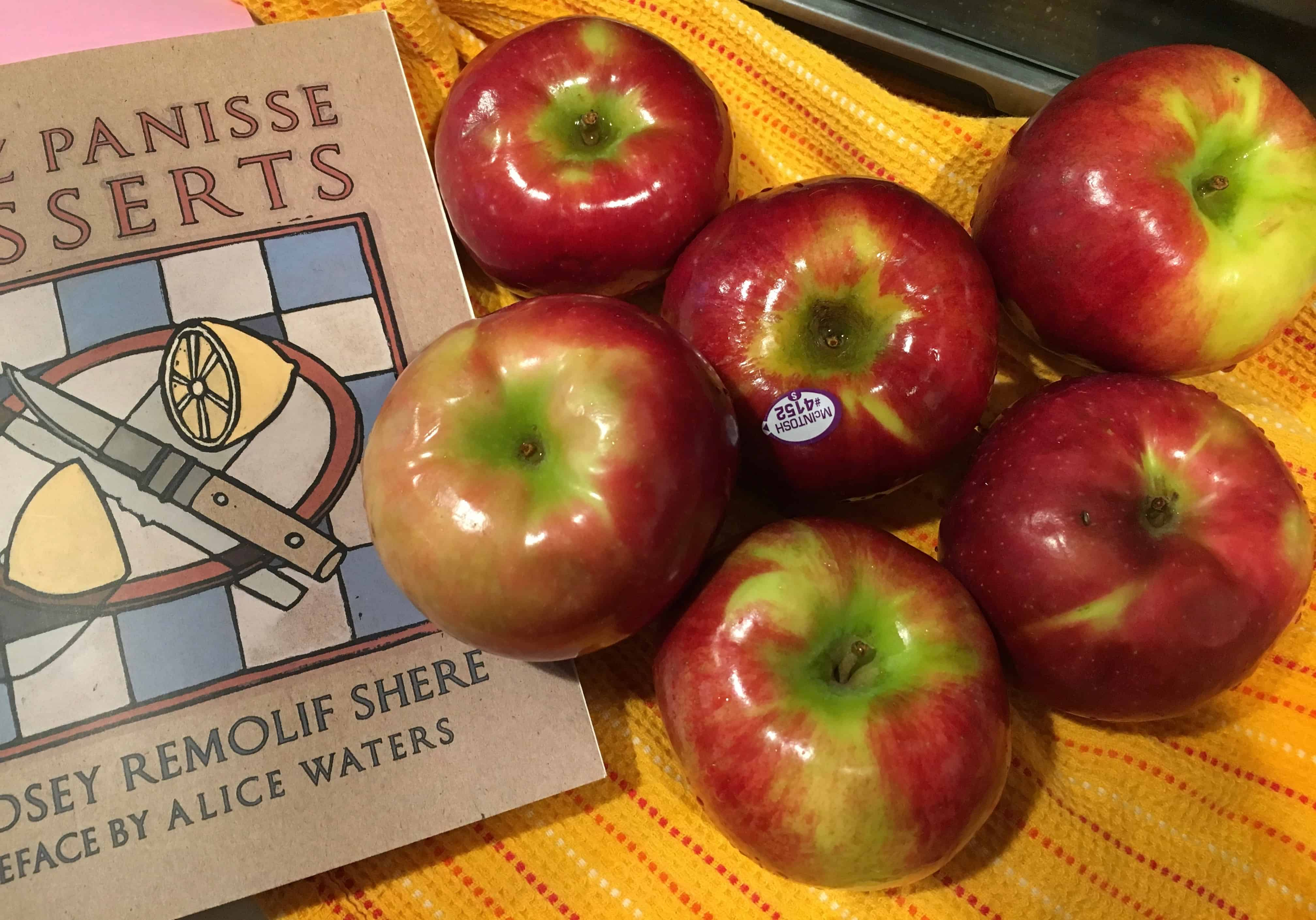Apples to core, peel and slice.