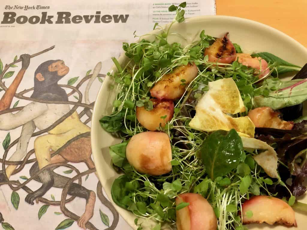 Grilled Peach Salad with Orange Blossom (1)