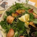 Grilled Peach Salad with Orange Blossom