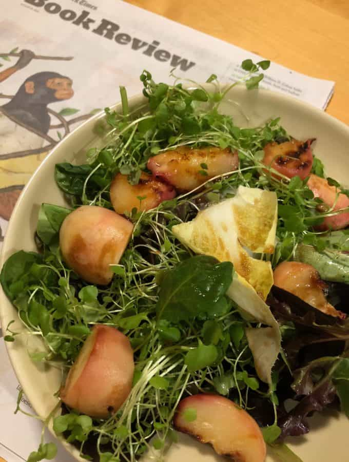 Grilled Peach Salad with Orange Blossom (4)