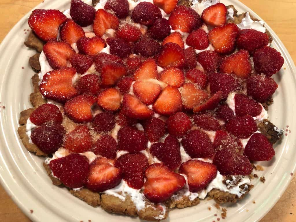 Strawberry Tart, ready for serving.