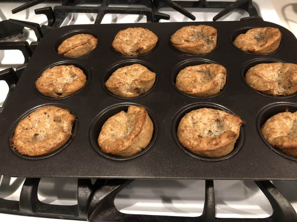 Buckwheat Popovers fresh out of the oven.