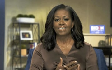 Michelle Obama speaking at the 2020 Democratic National Convention